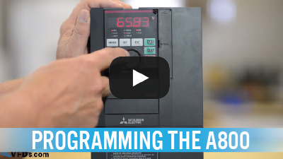 How to Program the Mitsubishi A800 Series VFD (Video)